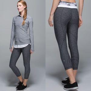 Lululemon💕Inspire Crop Heathered Gray Leggings 8